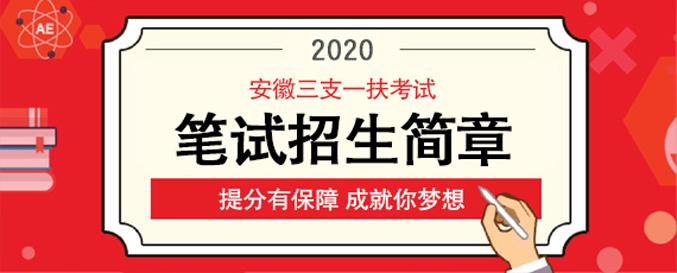 2020安徽三支一扶笔试课程