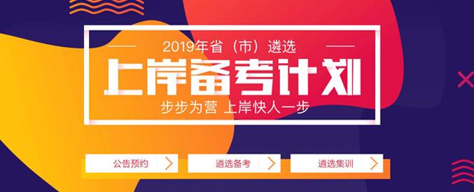 2019年省(市)遴选上岸备考计划