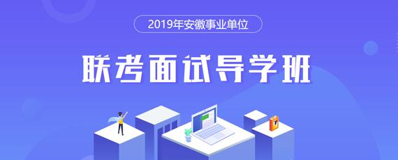 2019安徽事业单位联考面试导学班