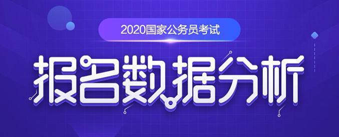2020年國家公務員考試報名每日數據統計分析
