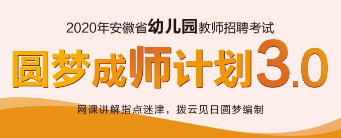 2020安徽幼儿园圆梦计划3.0版