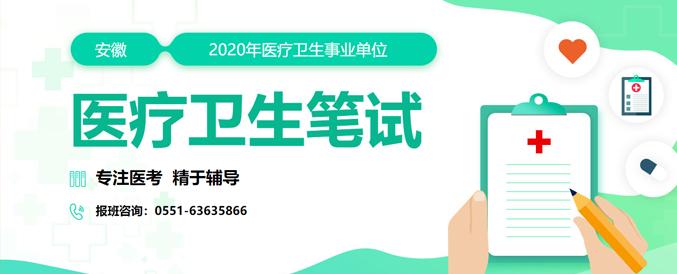 2020安徽医疗卫生考试培训辅导课程