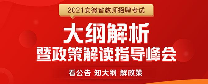 2021安徽教师大纲解析会