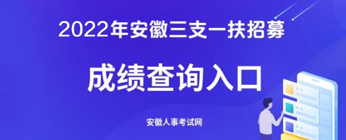 2021年安徽三支一扶招募考试成绩查询入口