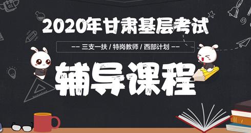 2019年甘肃三支一扶笔试课程