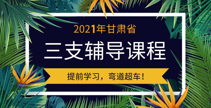 2021甘肃三支笔试辅导课程