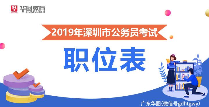2019年深圳市公务员考试职位表