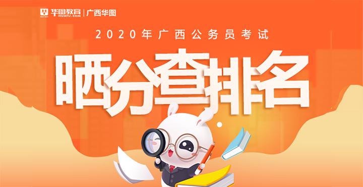 2020广西区考笔试成绩排名查询