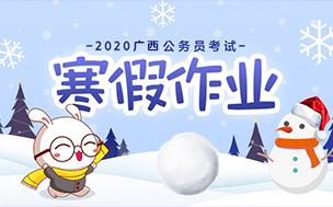 2020广西区考寒假作业