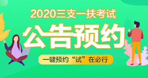 2020年三支一扶公告预约