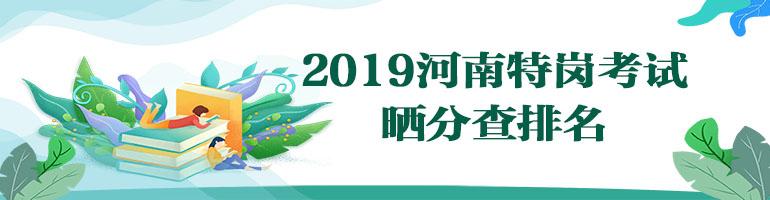 2019河南特岗晒分查排名系统
