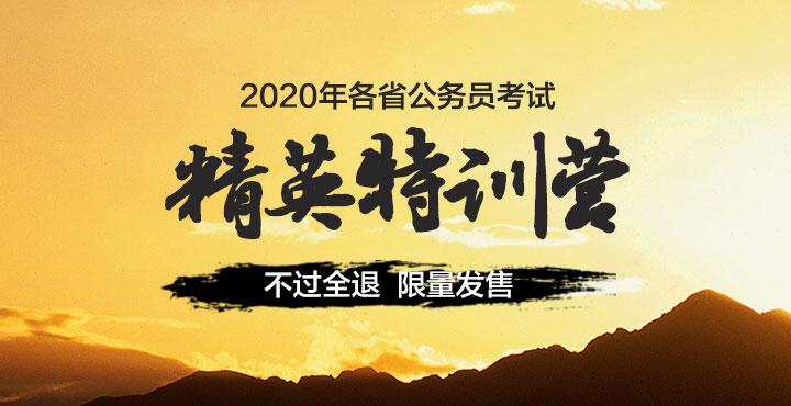 2020年河南省公务员考试精英特训营