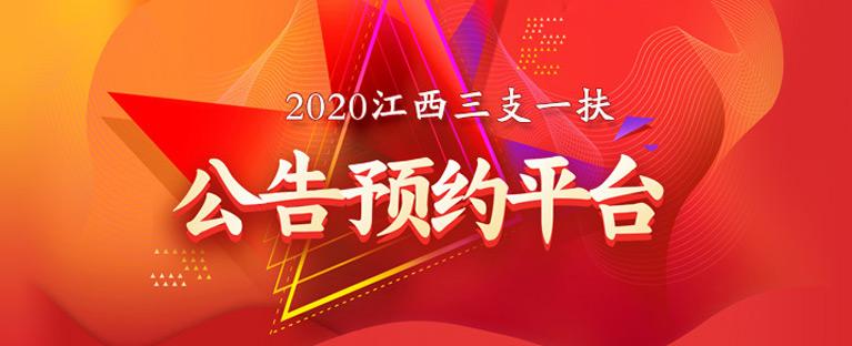 2020江西三支一扶公告预约