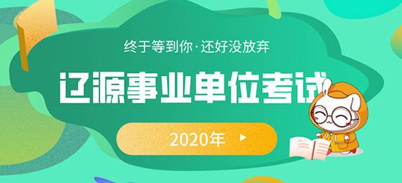 2020年辽源市事业单位考试
