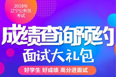 2018年辽宁公务员省考试笔试成绩查询