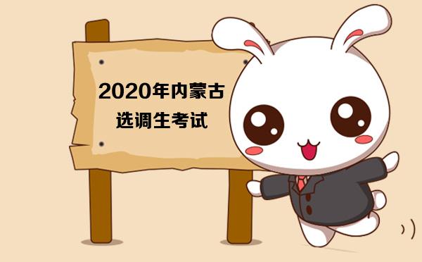 2020年内蒙古选调生考试报名时间