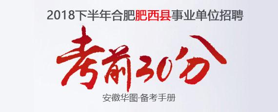 2018下半年合肥肥西县事业单位招