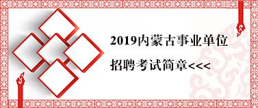 2019内蒙古事业单位考试简章