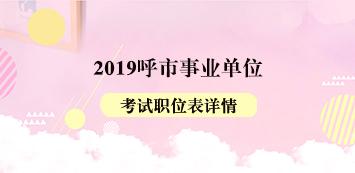 2019呼和浩特事业单位考试职位表