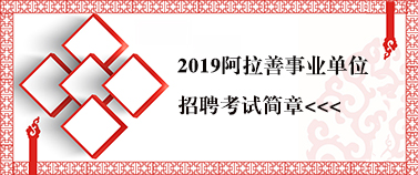 2019阿拉善事业单位考试简章