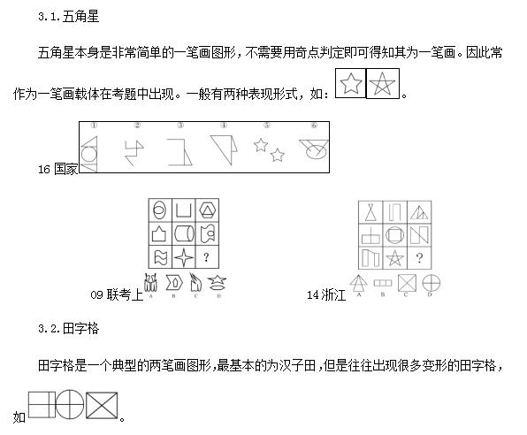 019甘肃省考行测备考技巧 一笔画题型判定