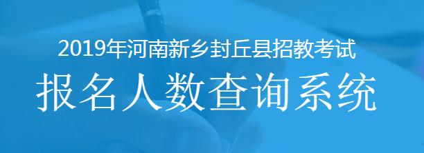 2019新乡封丘县招教报名人数查询系统