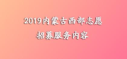 2019年内蒙古西部计划志愿者招募服务内容