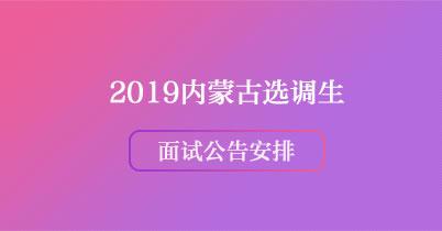 2019内蒙古选调生面试公告