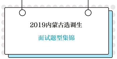 2019内蒙古选调生面试题型