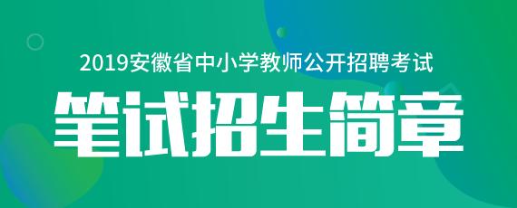 2019年安徽教师笔试课程