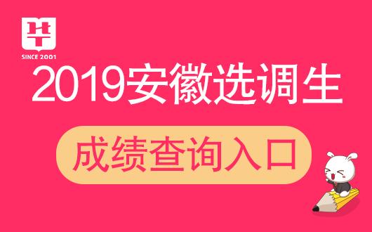 2019蚌埠市选调生考试成绩排名