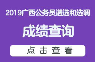 2019广西遴选和选调公务员成绩查询入口