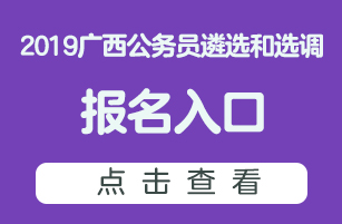 2019广西遴选和选调公务员报名入口