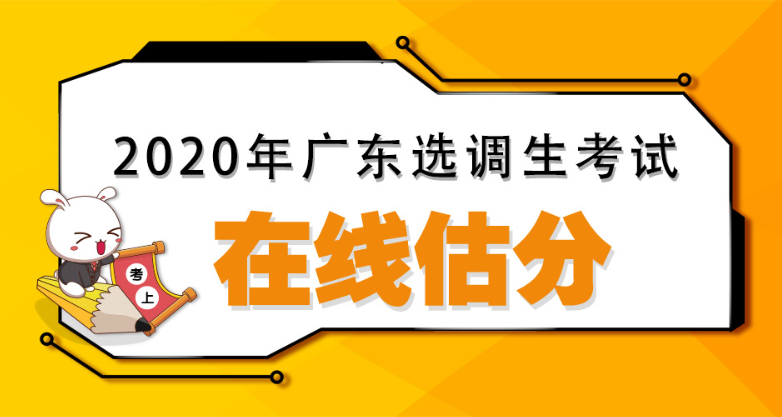 2020广东选调生和紧缺公务员考试在线估分入口
