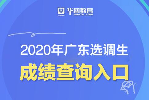 彩神ll,2020年广东选调生成绩查询入口