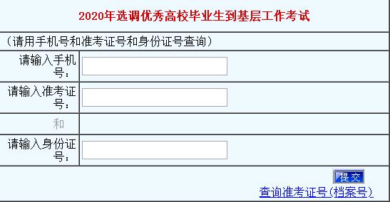 2020河南定向选调生成绩查询入口