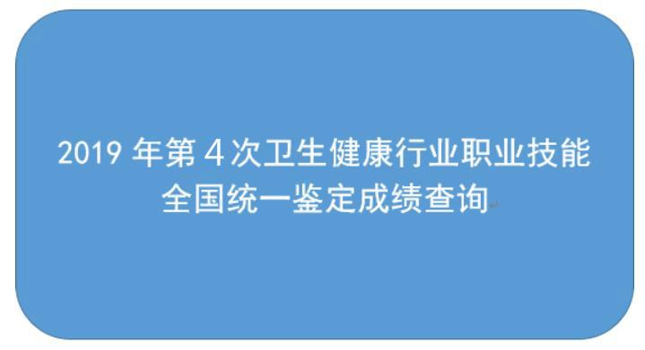 中国卫生人才网官网:2019年11月健康管理师考试成绩查询入口