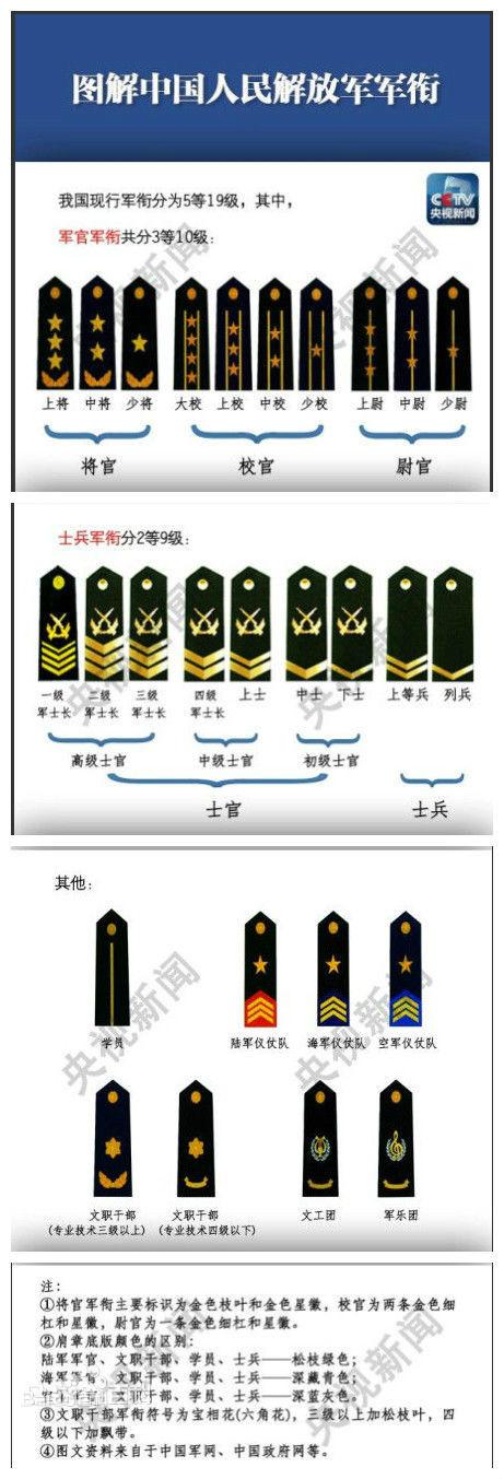 军衔等级排名_军衔等级排名臂章图片