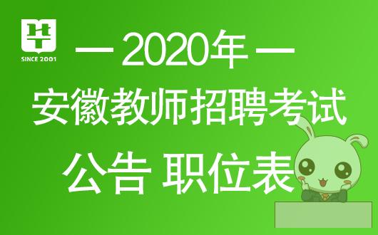 2020安徽教师考编公告