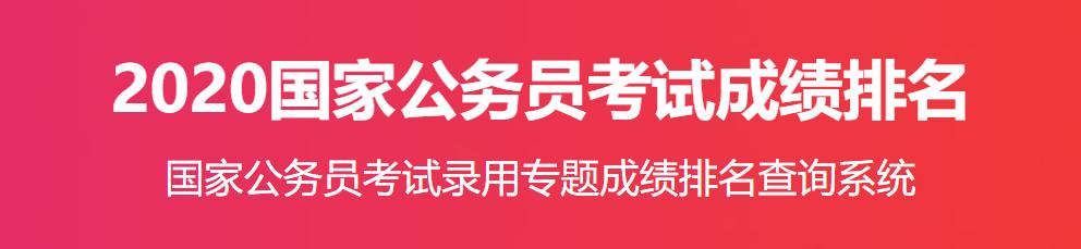 【国考晒分查排名】2020福建国考