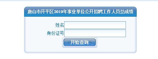 唐山市開平區2019年事業單位公開招聘工作人員總成績