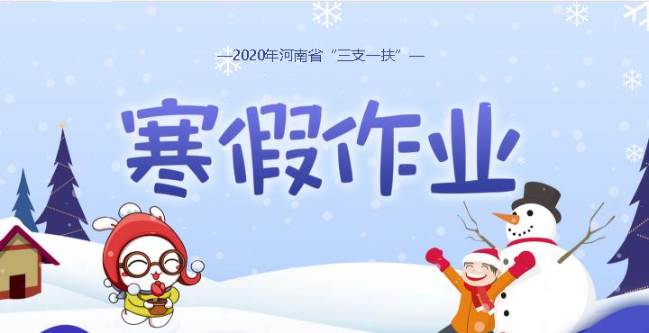 2020河南省三支一扶寒假作业预约