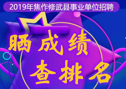 2019年焦作修武县事业单位招聘成绩排名查询系统