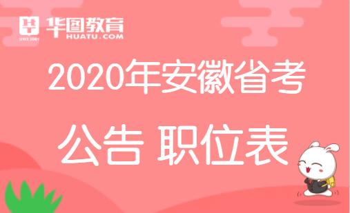 2020安徽省考公告何时公布?安庆省考公告发布时间