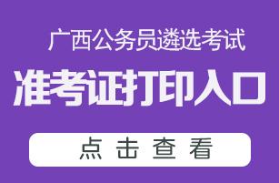 2020广西公务员遴选考试准考证打印入口