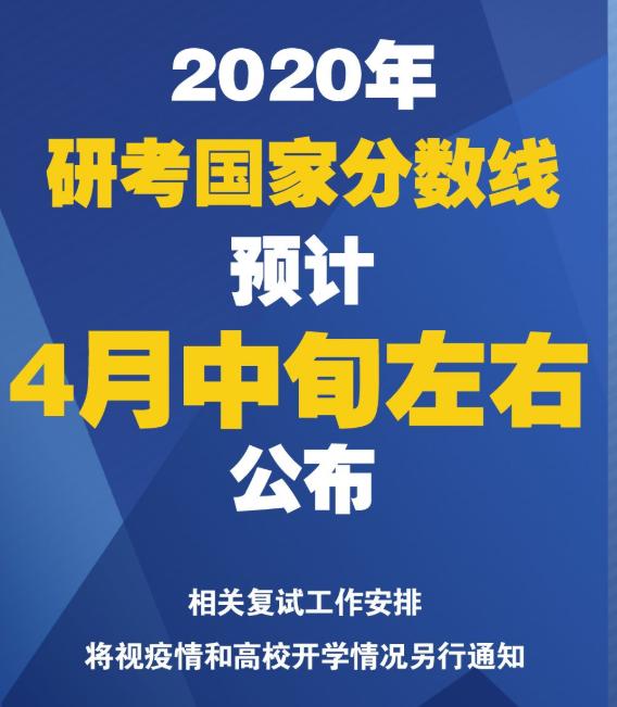 2020六安考研国家线4月中旬发布?研招网官方信息