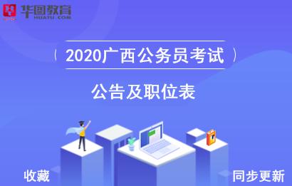 2020年广西公务员招录公告