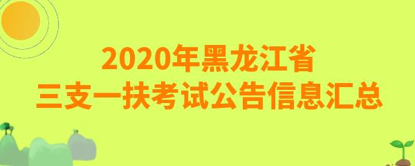 2020黑龙江省三支一扶考试在什么时候?