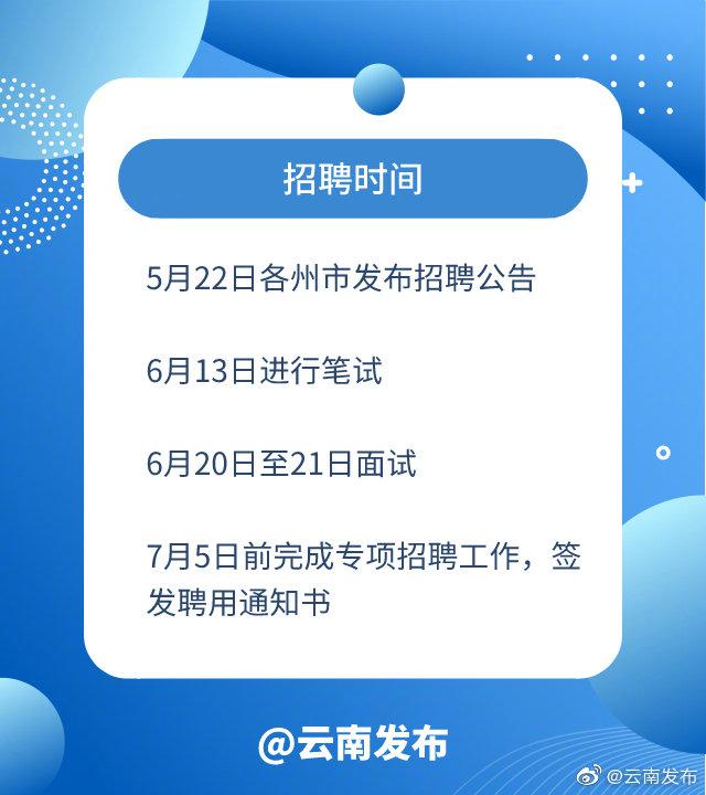 今年云南计划招聘42870名事业单位工作人员 6月13日进行笔试