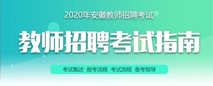 2021年安徽教师招聘考试指南